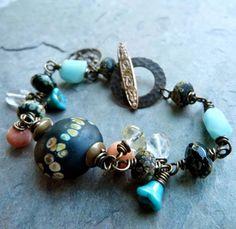i totally love this bracelet!  by Lorelei Eurto, etsy shop:  LoreleiEurtoJewelry