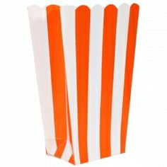 Orange Striped Candy Buffet and Popcorn Bags (5)