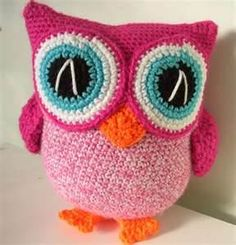 Adorable knitted owl doll