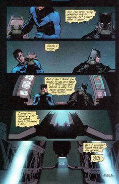 Nightwing & Batman. I AM ACTUALLY CRYING. omg stop Dick STOP I CANT HANDLE THE FEELS