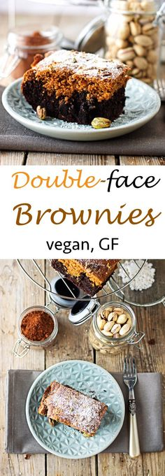 Double-face Brownie - The #chocolate craving strikes and you cannot decide between white or dark chocolate. Life is full of difficult decisions. Why not have both? I'm sure everybody loves #brownies, and a one mixed from white and dark chocolate seems like a winner? The light part contains almond butter and is finger-licking good on its own. The dark one is rich and full of cocoa indulgence. Of course, it comes #vegan and #glutenfree. #alnatura #naturata #nanunana #depotonline @DEPOT Online