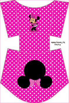 Coquette Pink Minnie: Free Printable Boxes and Free Party Printables.