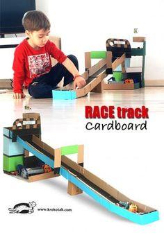 how to make a cardboard hot wheels track