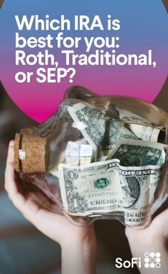 If you're looking to open a retirement account, you might not be sure which one is best for your situation. Here, we illuminate the differences between Roth, traditional, and SEP IRA accounts so that you can make a plan for your savings, and start a smart investment in your future.