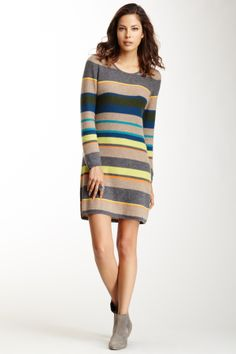 Cullen Multicolor Stripe Cashmere Dress