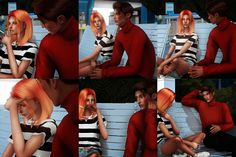 bench conversation posepack for sims 4 Sims 4 Couple Poses, Couple Posing, The Sims 4 Pc, Sims Cc, Sims 4 Stories, Sims 4 Piercings, Toddler Poses, Sims 4 Traits, Sims 4 Black Hair
