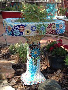 Old sink turned garden planter.