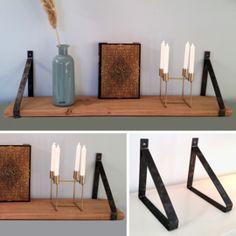Stalen plankdragers (voor planken van 3 cm dik) als set van 2 stuks