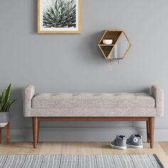 67 Ideas For Bench Seating Modern Entryway Mid Century Modern Living Room, Mid Century Decor, Modern Bench, Mid-century Modern, Rustic Modern, Modern Chairs, Modern Condo, Modern Entryway, Entryway Ideas