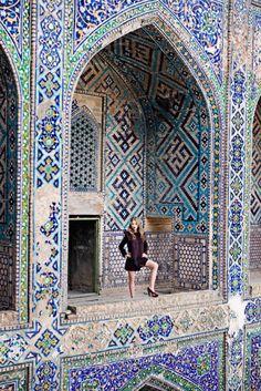 Intricate mosaic tile work.