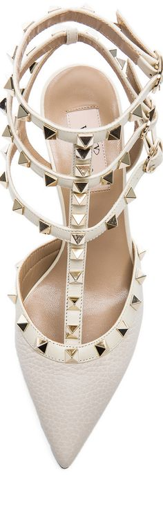 6948741c9f VALENTINO Rockstud Grained Leather Slingbacks Mid Heel Sandals