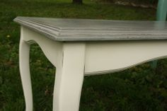 old wooden vintage coffee table - annie sloan chalk paint