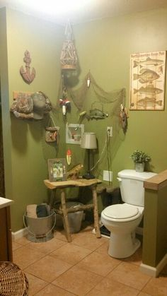 Lake Fishing Themed Bathroom Lake House D Cor Pinterest Boat Shelf Shelves And Boats