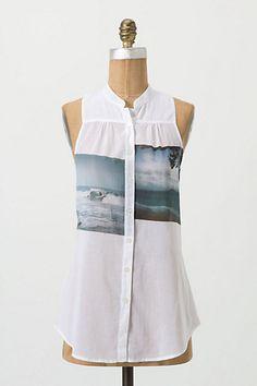 DIY idea: Anthropologie snapshot blouse-- using photo transfer Mod Podge?