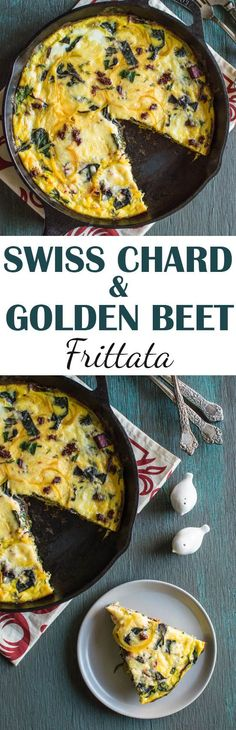 Swiss Chard and Golden Beet Frittata - a light healthy dish that's ...