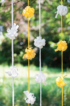 A touch of yellow #ribbons #bows #events #party #decoration #marriage #wedding