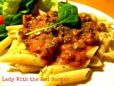 Spicy Sausage with Penne Pasta, delish