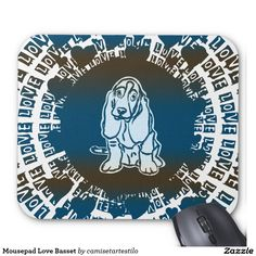 Mousepad Love Basset