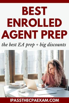 Preparing or the Enrolled Agent Exam? These EA prep courses can help you pass on the first attempt. Study the right materials for the test and get a great discount! #EnrolledAgent #EA