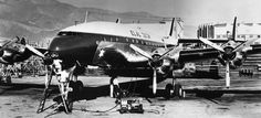 One of EL AL's first Lockheed 049 Constellations being refurbished for passenger service by Schwimmer Aviation at Burbank, California, 1950. (BIAF—Israel Aviation & Space Magazine)