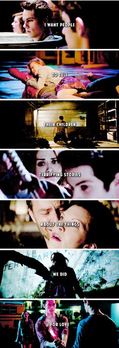Quero que as pessoas digam as crianças histórias terríveis sobre as coisas que fizemos por amor