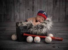 Baby Boy , Atlanta Braves inspired Crocheted Baseball  hat, Diaper cover, Newborn Photo Prop