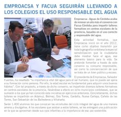 Renovación convenio Aguas de Córdoba y Facua sobre formación escolar en consumo responsable