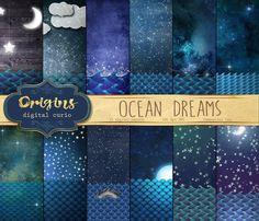 Ocean Dreams Backgrounds by Origins Digital Curio on @creativemarket
