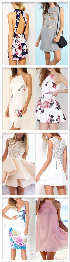Fashion Floral Print Dresses,Perfect Outfits For Summer!