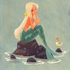 From early concept art of the Little Mermaid, or maybe Peter Pan?
