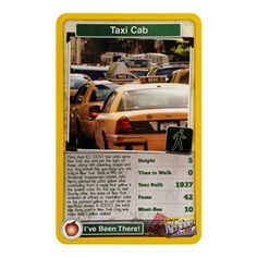 Taking a trip to #NewYork this summer? Learn about the city with Top Trumps, the new educational and fun game that is sweeping across the US. Featuring #taxis!