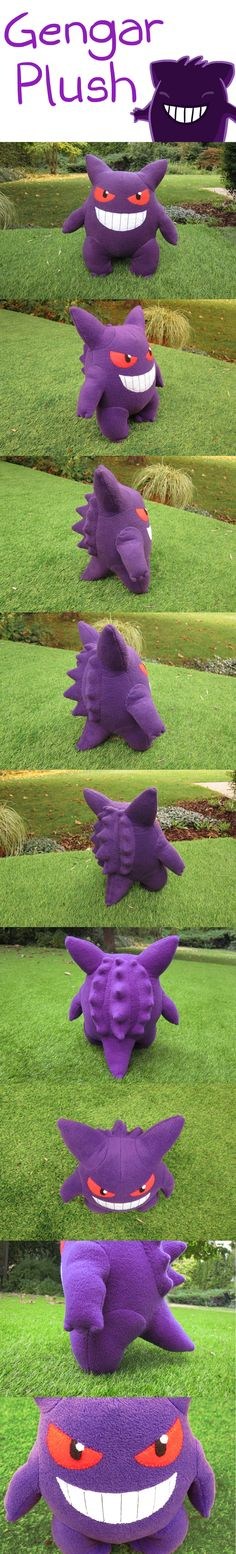 Gengar Plush by Luminous-Luchador.deviantart.com on @DeviantArt