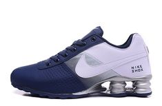 Mens Nike Shox Deliver Deep Blue White Trainers Running Shoes Sneakers - picture for you Nike Shox Nz, Mens Nike Shox, Nike Shox Shoes, New Jordans Shoes, Jordan Shoes, Nike Men, Men's Shoes, Sneakers Nike, Shoes Style