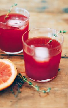 Raspberry Campari Smash with Grapefruit
