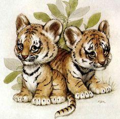 Needlework diy diamond painting cross stitch kits full resin square diamond embroidery Mosaic Home Decor animal tiger Cute Animal Drawings, Cute Animal Pictures, Cute Drawings, Cute Baby Animals, Funny Animals, Wild Animals, Tiger Art, Tiger Cubs, Baby Tigers