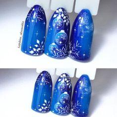 Nail Art Noel, Xmas Nail Art, Xmas Nails, Winter Nail Art, Winter Nail Designs, Christmas Nail Designs, Holiday Nails, Winter Nails, Nail Art Designs