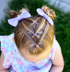 toddler hairstyles Girl Bangs is part of Delightful Toddler Girl Haircuts With Bangs Child - Easy toddler hairstyle Girls Hairdos, Lil Girl Hairstyles, Pigtail Hairstyles, Teenage Hairstyles, Braided Hairstyles, Little Girl Hairdos, Fashion Hairstyles, Hairstyles 2016, Formal Hairstyles