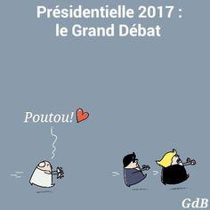 GdB (2017-04-06) France:   Présidentielle 2017 : le Grand Débat : Poutou, Fillon, Marine Le Pen