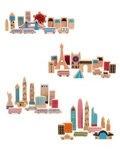 Once Kids Cityscape Wooden Blocks
