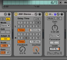 Steal this Trick! How to get full control of Stereo width in Ableton.  http://www.musicsoftwaretraining.com/blog/stereo-tip I do this in virtually EVERY track I make!