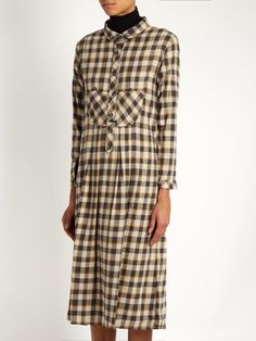 The Great The Popover tartan cotton dress