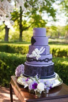 Cake by Elysia Root- Parisian Goth Wedding Inspiration by Ashley Biess