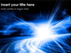 Quantum Physics Powerpoint Template. Kind of energetic and vibrant theme with bright light in the background.