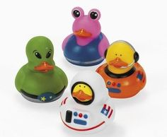 12 Astronaut Space Alien Rubber Ducks [Toy] « Game Searches