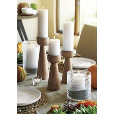 Candlesticks with Mid-Century Flair for Your Thanksgiving Table — Faith's Daily Find 11.11.15