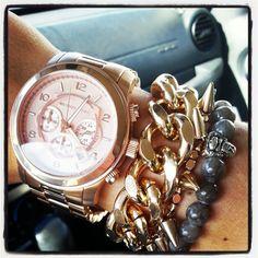 Chunky Rose Gold Bracelet  Michael Kors inspired  by SophieandTrey