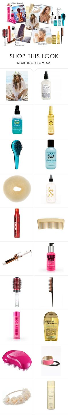 Beach variation of hairstyle by iris234 on Polyvore featuring beauty, Alterna, Sexy Hair, Organix, Sun Bum, Bumble and bumble, Revlon, Tangle Teezer, ZooShoo and Mudd