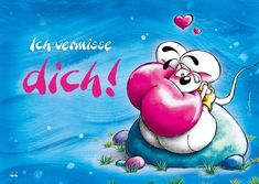 Ich vermisse dich... Creative Pictures, Love Pictures, Funny Pictures, Tatty Teddy, E Cards, Greeting Cards, To My Future Husband, Coloring Books, Disney Characters