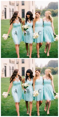Mint Green Short bridesmaid dresses, Mismatched bridesmaid dresses, Short bridesmaid dresses, long bridesmaid dress, cheap bridesmaid dresses, 17009