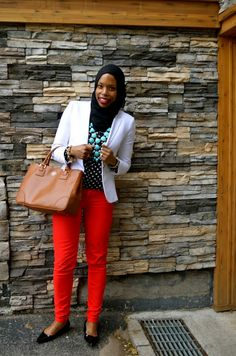 Spring Wear: Red, Turquoise and Polka Dots